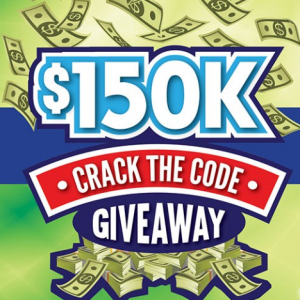 $150K Crack The Code Sweepstakes