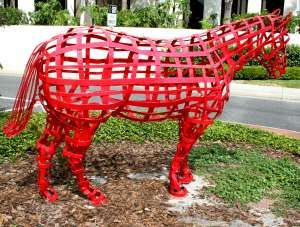 Mr. Red Sculpture